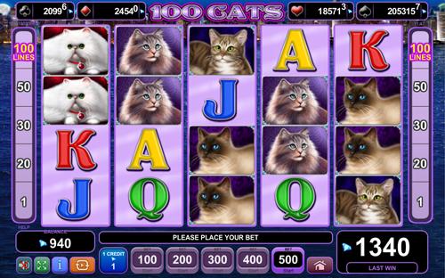 100 Cats Slots - Spielen Sie das EGT Casino-Spiel gratis