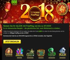 888 Casino spendiert 9.000€ Free Play
