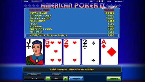 play casino online american poker ii