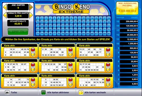 bingo keno extreme casino spiel im casino club