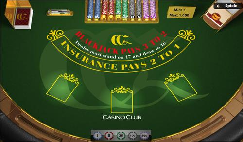 blackjack im casino club spielen