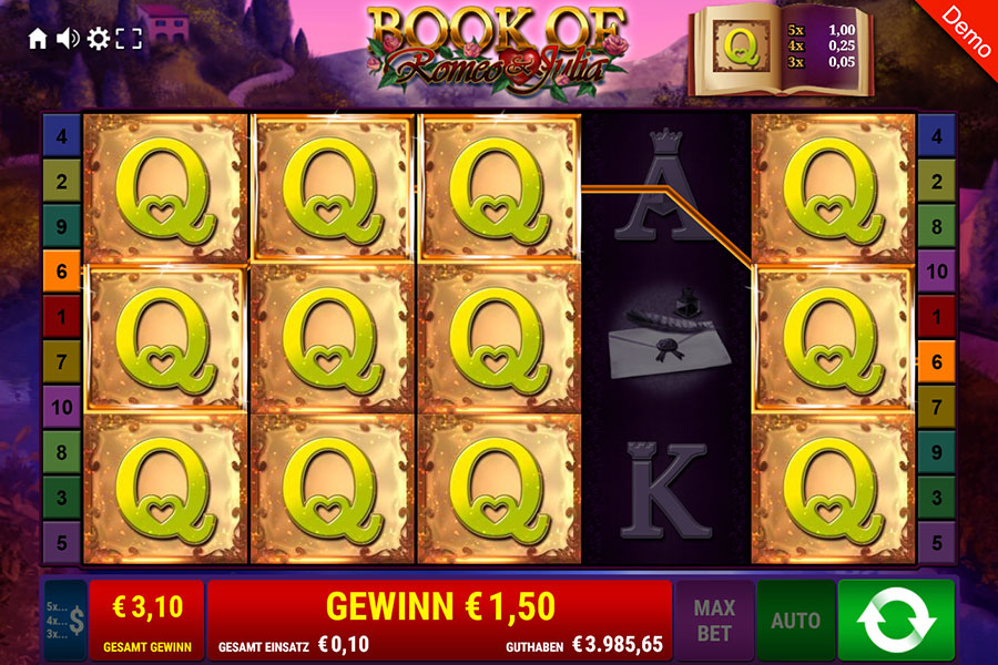 book of romeo and julia casino