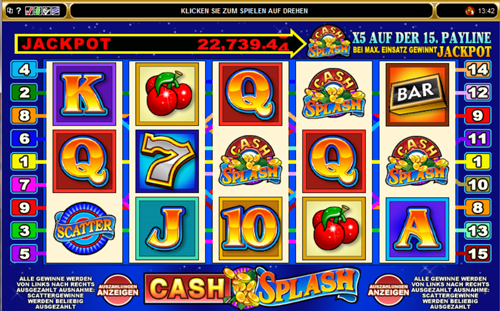 cash splash online slot im spinpalace casino