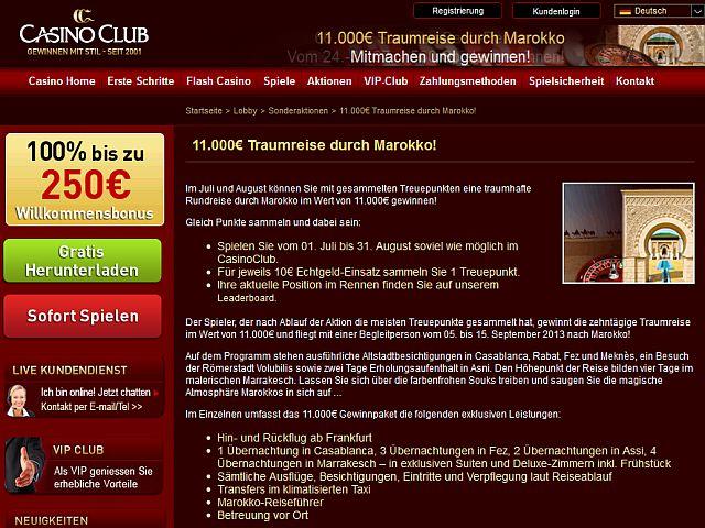 Casino Club Top Reise