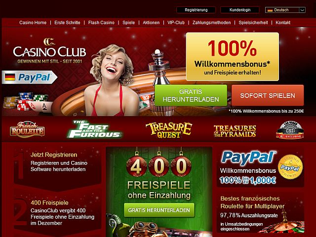 Casino Club Weihnachten