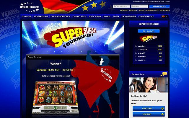 Casino Euro Super Sunday