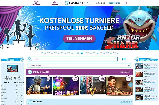 Casino Secret Startseite