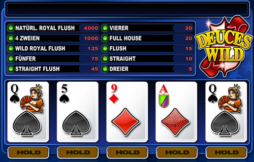 deuceswild video poker im casino club
