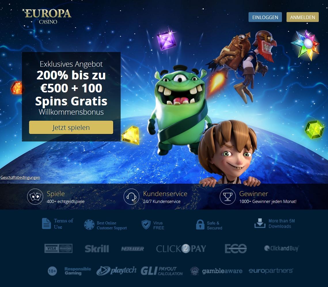 Europacasino Angebot