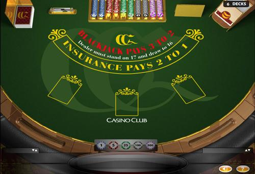 european blackjack im casino club