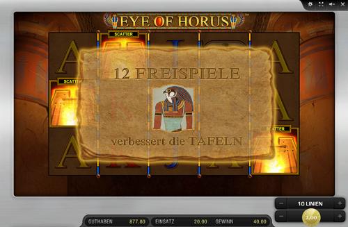 novoline eye of horus spielen