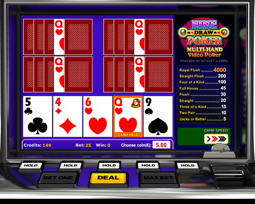 online casino video poker spiele