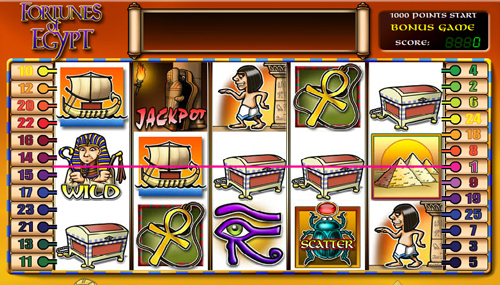 fortunes of egypt online slot im casino club