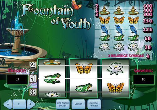 fountain of youth slot im william hill online casino