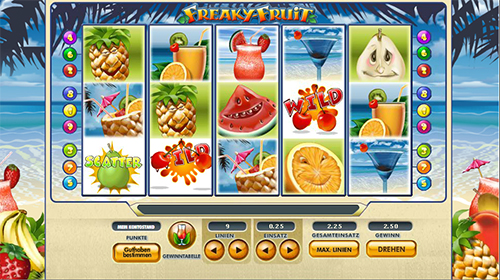 freaky fruit slot im 888 online casino