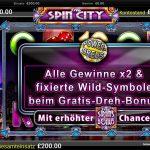 free spin city bonus