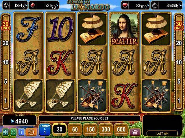 Genius of Leonardo Spielautomat - Spielen Sie gratis online