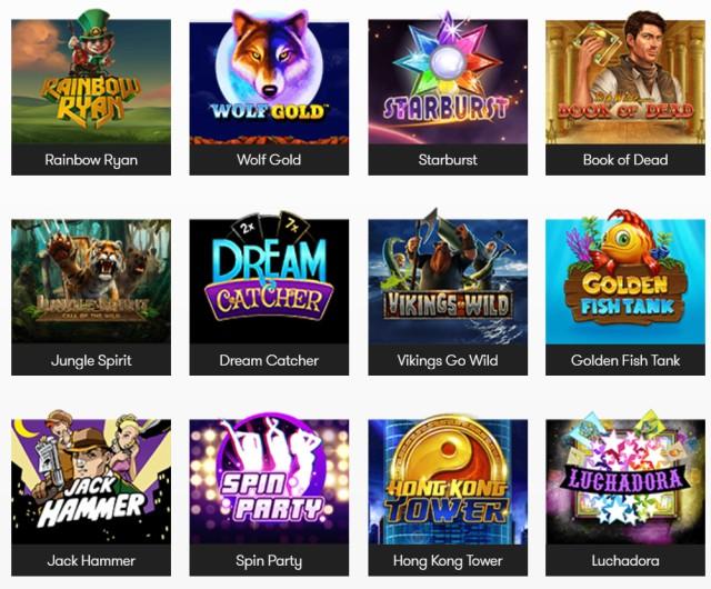 Beliebte Spiele bei Intercasino