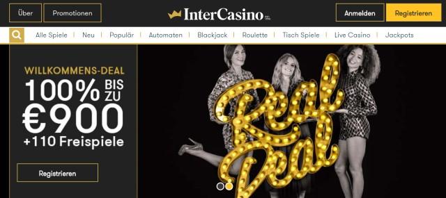 InterCasino Startseite