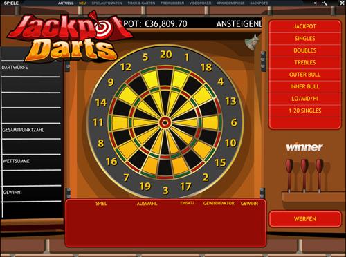 jackpot darts im winner casino spielen