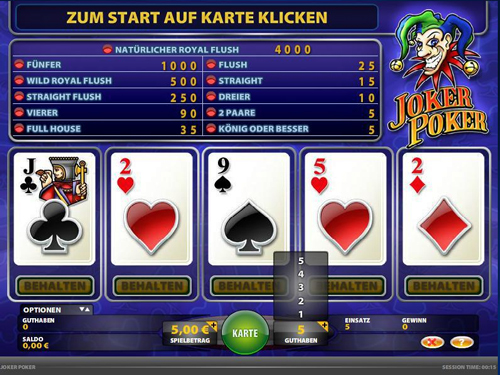 joker poker casino spiel im casino club