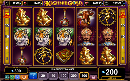 Kashmir Gold™ Slot Machine Game to Play Free in Euro Games Technologys Online Casinos