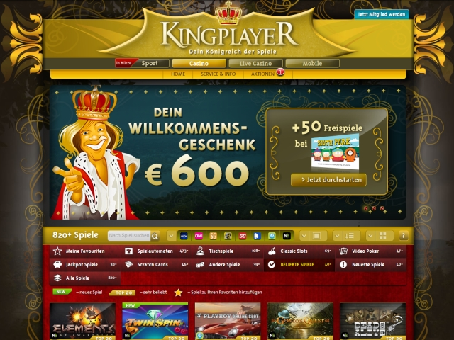 test online casino spielen king