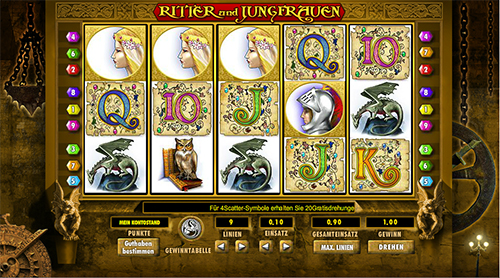 knights and maidens slot im 888 online casino