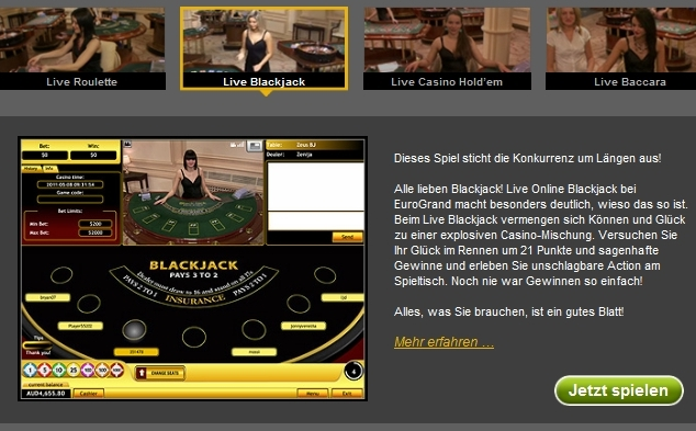 fettspielen blackjack casino
