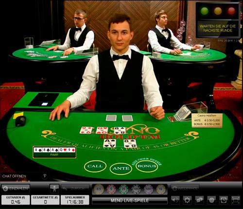 Spielen sie Live Casino Holdem bei Casino.com Österreich