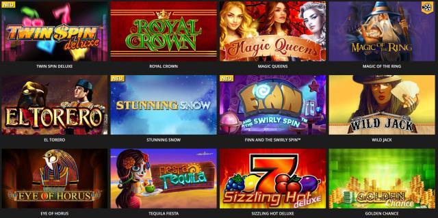 Verschiedene Videoslots bei LV Bet Casino