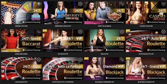 Roulette Auswahl