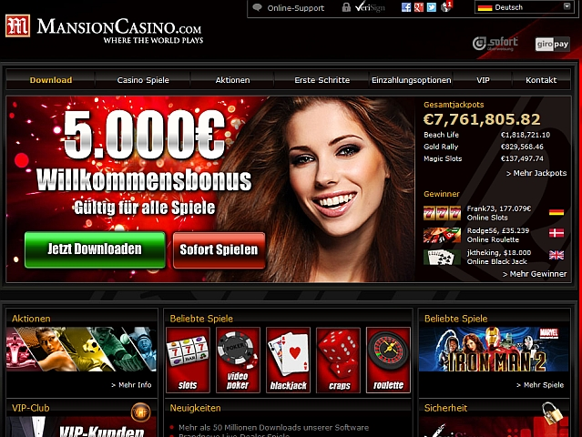 mansion online casino deutschland casino