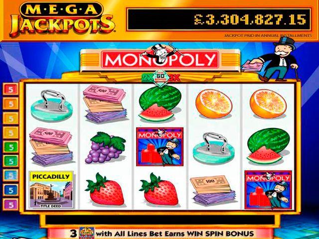 Mega Jackpots Monopoly