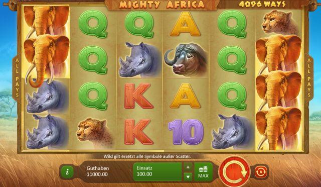 Mighty Africa Slot Vorschau