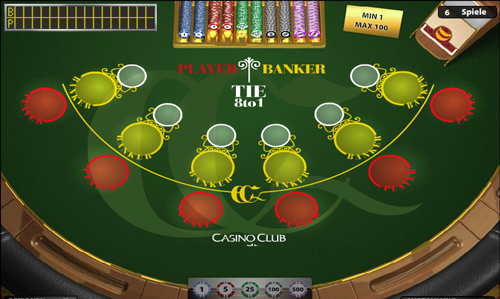 mini baccarat im casino club