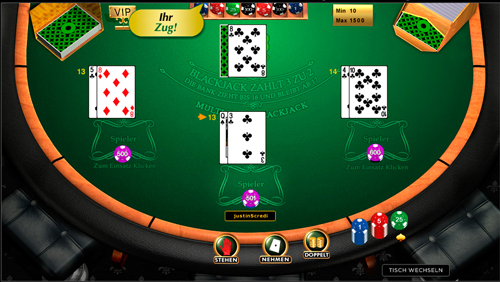 multi hand blackjack spielen