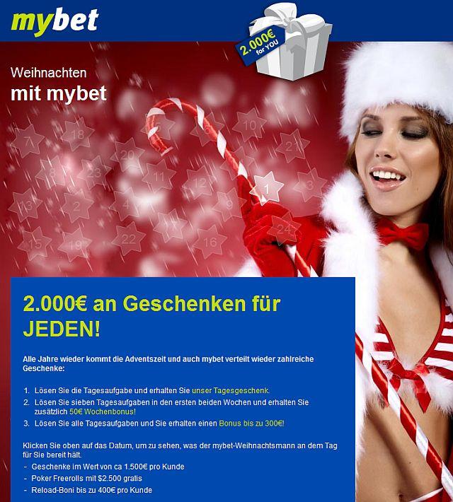 Weihnachten im Mybet Casino