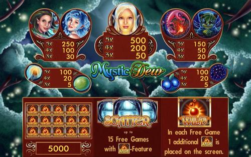 mystic-dew merkur spiel