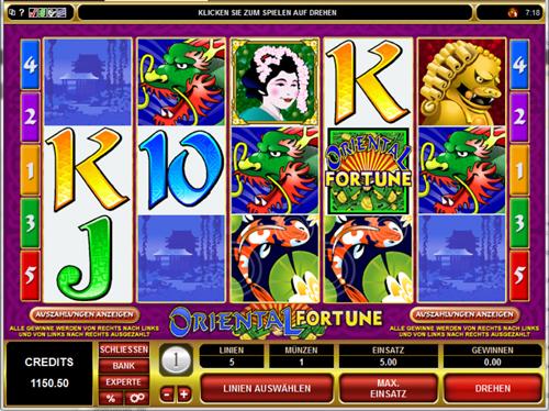 oriental fortund online slot im spinpalace casino