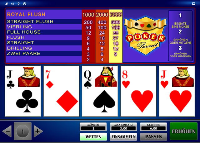 online casino video poker spielen bei king com
