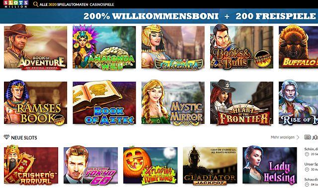 Slotsmillion Startseite