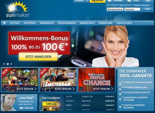 sunmaker casino mit tollen bonus angeboten