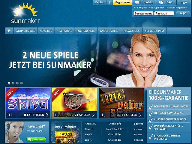 Sunmaker neue Spiele