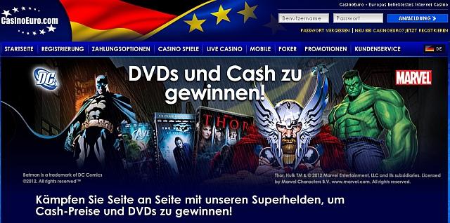 DVD gewinnen im Casino Euro