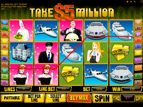 take 5 million casino spiel im eurogrand casino