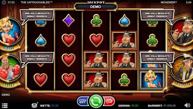 The Untouchables Slot Vorschau