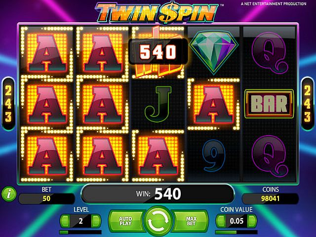 Twin Spin slot - spil Twin Spin slot online gratis