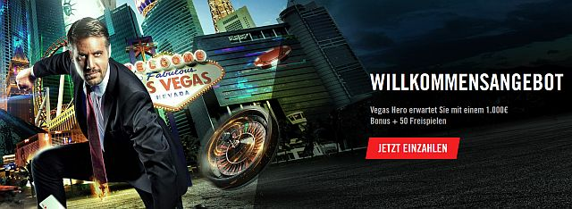 Vegas Hero Bonus neu