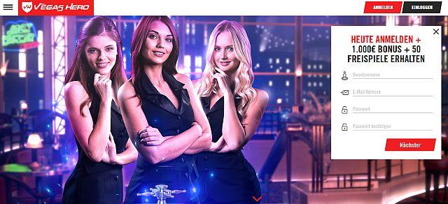 Vegas Hero Startseite